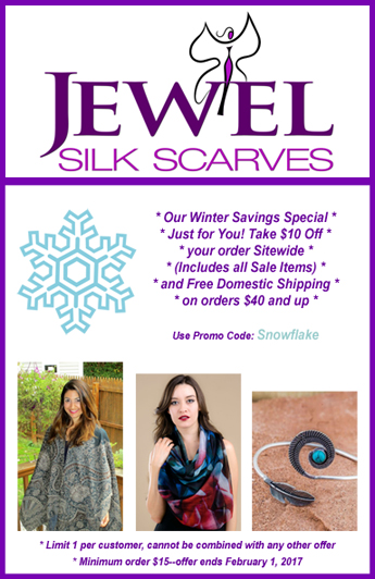 Jewel Silk Scarves
