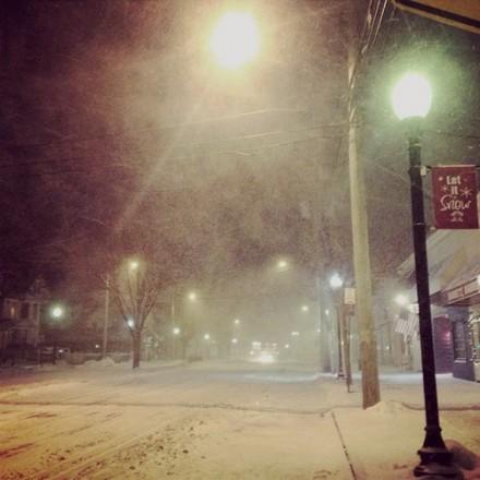 snow in Black Rock