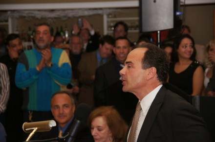 Ganim addresses crowd