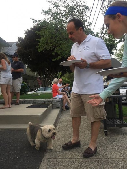 Ganim and dog