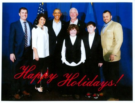 Finch family and Obama
