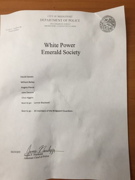 white power letter