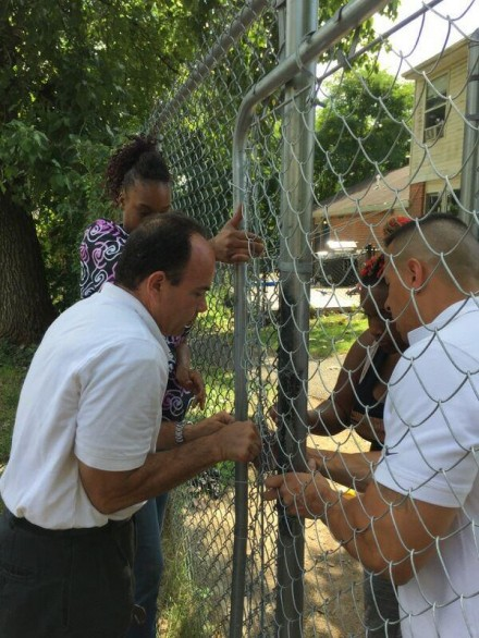 Ganim, Trumbull Gardens fence