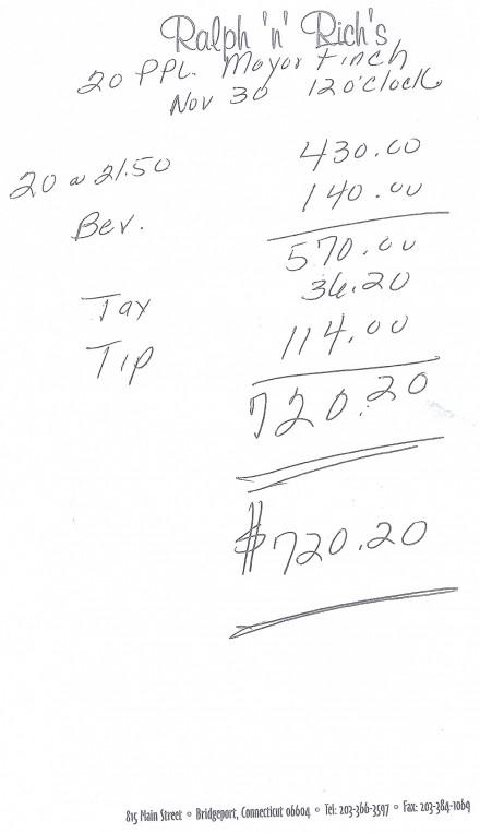 Ralph 'n' Rich's invoice