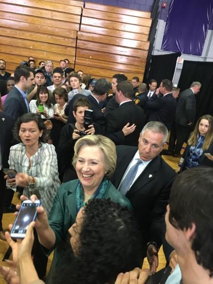 Hillary at UB