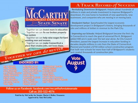 McCarthy first mailer back