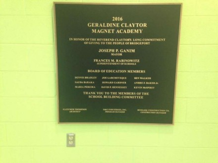 Claytor School plaque