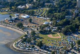 Aerial of Seaside Park.
