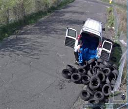 illegal dumping tires