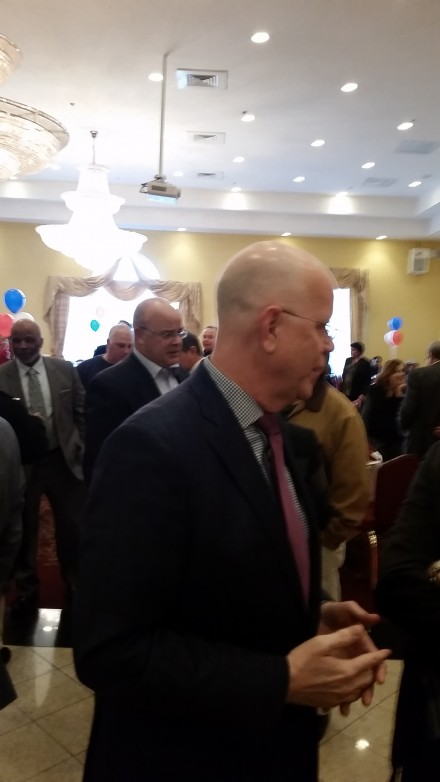 Lembo at fundraiser