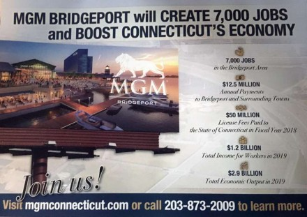 MGM Bridgeport numbers