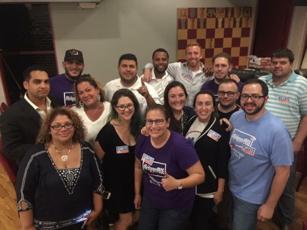 Young Dems celebrate