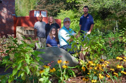 From left to right, Wilbert Frazier and Stacey Marcell of Northeast Horticultural Services, Jeanne Yuckienuz, Gregg Dancho and Jonathan Dancho of Connecticut's Beardsley Zoo. Photo courtesy of Shannon Calvert.