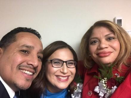 City Council trifecta look, Alfredo Castillo, Maria Zambrano and Council pres Aidee Nieves.