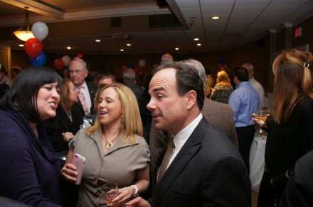 From 2015, Pereira right, and Dollie Fonseca, center, chat with Joe Ganim.