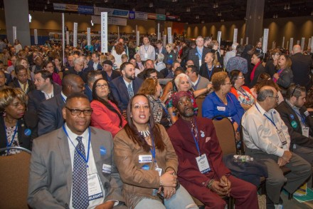 Bridgeport delegation at convention.