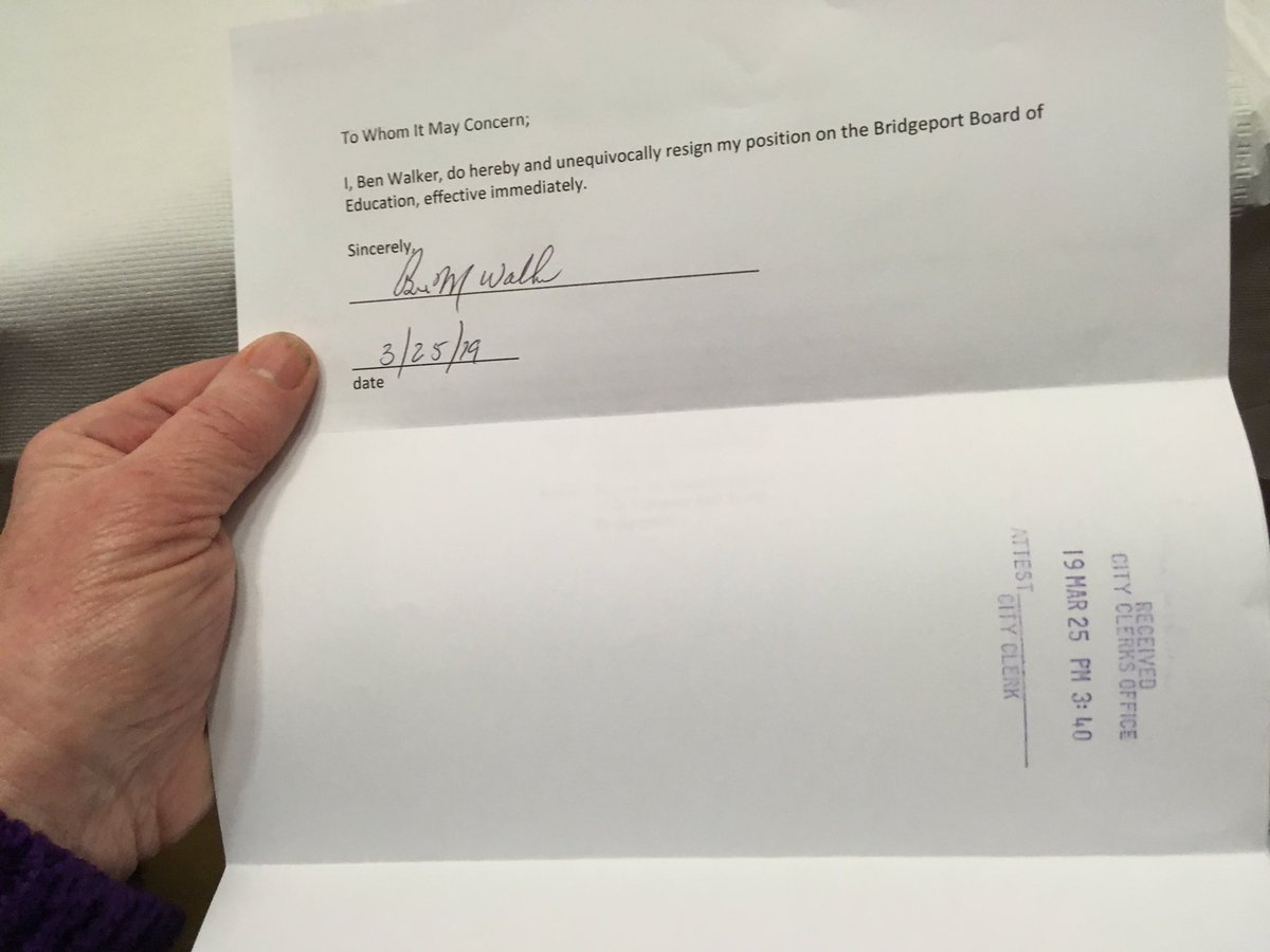 Ben Walker Resigns From School Board Creating Another