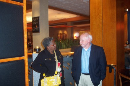 "Marilyn with her campaign treasurer Bob ""Troll"" Walsh."
