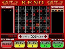Keno numbers ri