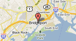 Bridgeport map