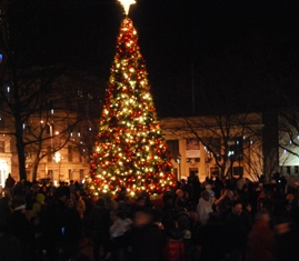 downtown tree lighting