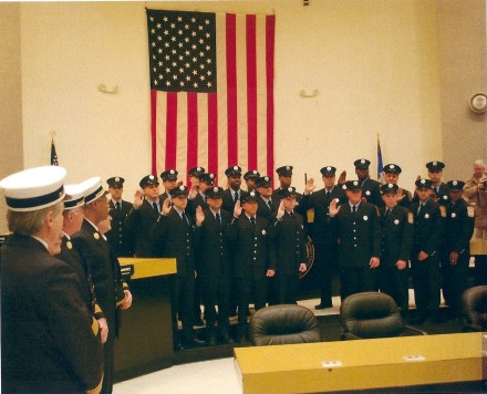 firefighters swearing in