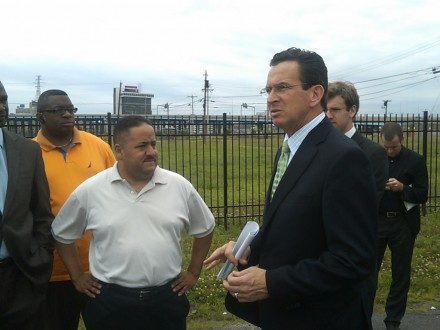 Andres Ayala with Dannel Malloy