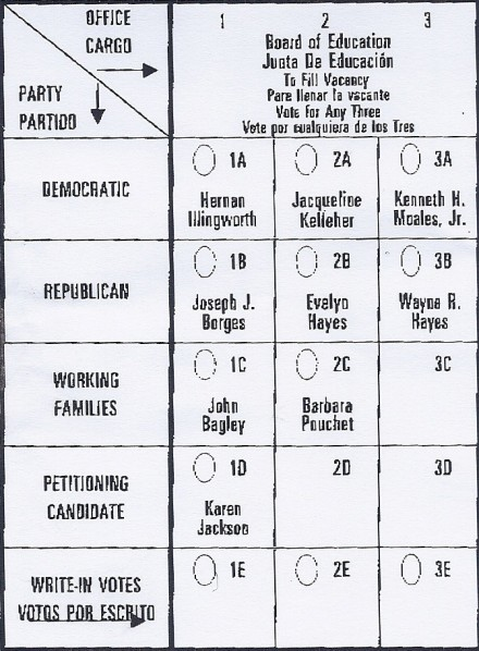 special election ballot