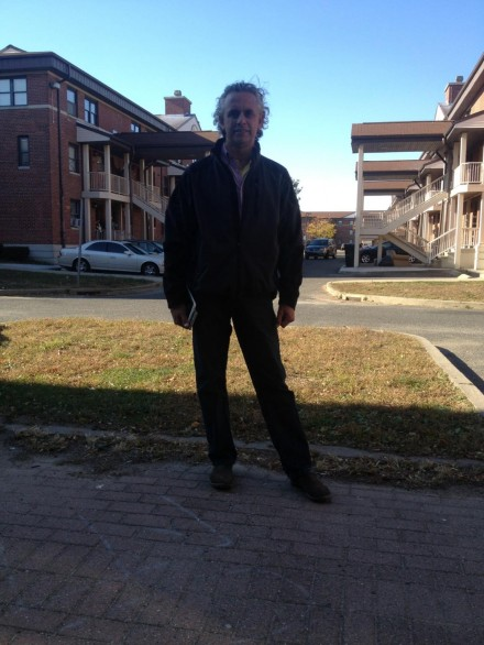 Rick torres campaigned monday at the p t barnum apartments